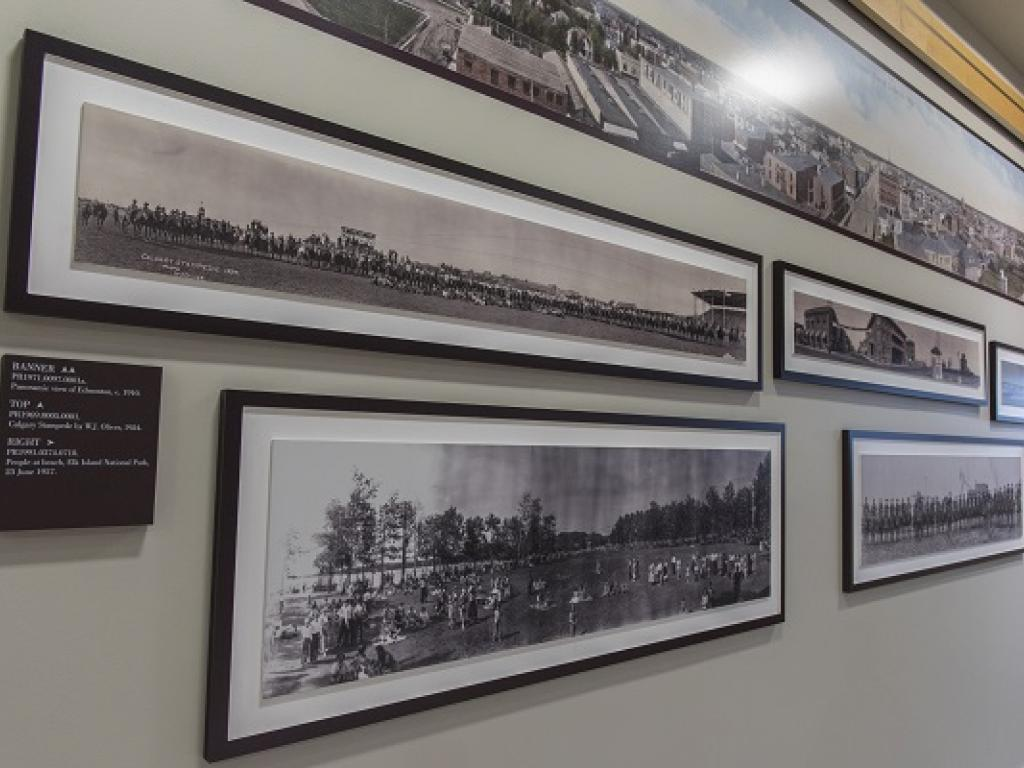 Image of Panoramic Photo Exhibit at the Provincial Archives of Alberta