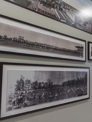 Image of the Take a Longer Look: Panoramic Photographs from the Provincial Archives of Alberta exhibit in place