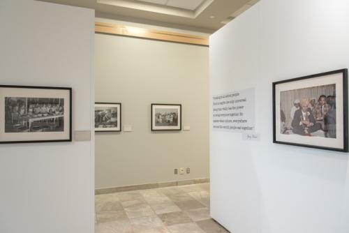 Image of the Food and Community exhibit in the gallery of the PAA