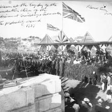 Laying of the foundation stones, Legislative Building, Edmonton, 1907, Provincial Archives of Alberta, Photo A3652, Photographer E. Brown