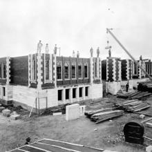 Construction of Connaught School, Medicine Hat, ca. 1915 <BR />Provincial Archives of Alberta Photo A10590 Photographer unknown