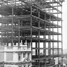 Construction of the McLeod Building, Edmonton, ca. 1913 <BR />Provincial Archives of Alberta Photo A5332 <BR />Photographer unknown