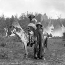 Cree Camp near Edmonton, ca. 1900 <BR />Provincial Archives of Alberta Photo B11 <BR />Photographer Charles Mathers