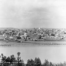 View of Calgary from the north, ca. 1892 <BR />Provincial Archives of Alberta Photo B3143 <BR />Photographers W.H.Boorne and E.G. May