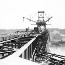Construction of the High Level Bridge, Edmonton, ca. 1912 <BR />Provincial Archives of Alberta Photo B3308 <BR />Photographer August Frasch