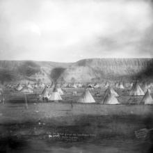 First Nations camp near Calgary, ca. 1890 <BR />Provincial Archives of Alberta Photo B811 <BR />Photographers W.H. Boorne and E.G. May