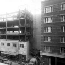 Construction of the Hotel Royal, Calgary, ca. 1950 <BR />Provincial Archives of Alberta Photo P3826 <BR />Photographer Harry Pollard