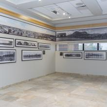 Image of panoramic photo exhibit in place at the Provincial Archives of Alberta