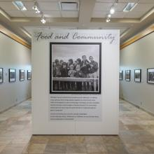 Image of the Food and Community exhibit in place at the Provincial Archives of Alberta
